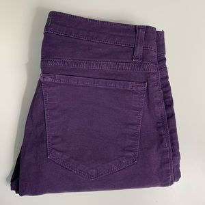 J Brand Jeans Size 27 Skinny Purple Stretch